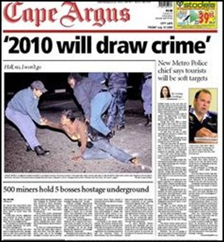 2010 will draw crime says Cape Town metrocop chief