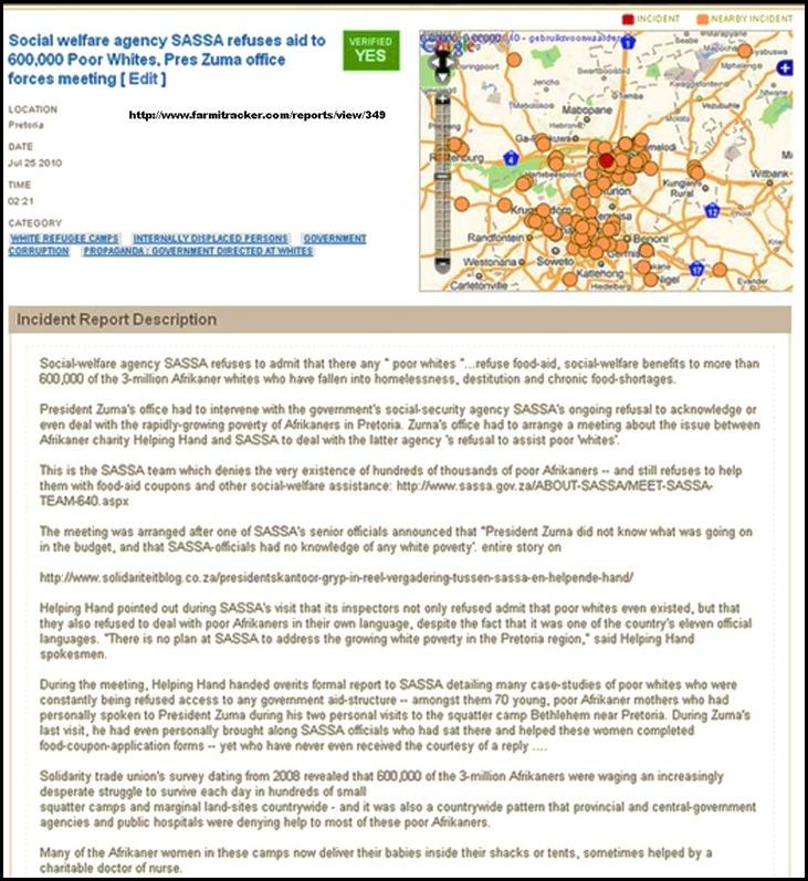 AfrikanerPoorZumaForcesSASSAagencyMeetHELPING HANDJuly242010