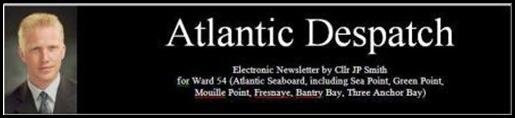 Smith JeanPierre Cape Town DA-city councillor Atlantic Seaboard Ward chairman CRIME WEBSITE PLANS