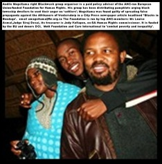 Blackwash antiwhite hatespeech propagandist Andile Mngzitama heads Foundation for Human Rights funded by EU