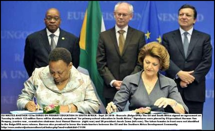EU South Africa primary education deal 123m Euros
