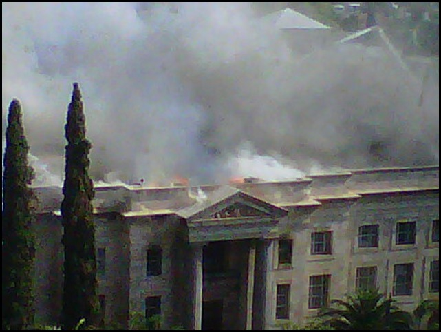 Pretoria Magistrate Court historic building burns Oct 27 2010 Pic Anneke Lombard