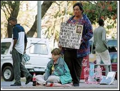 AFRIKANER POOR BEGGING FOR FOOD