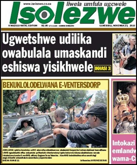 AntiAfrikanerReportsAboutTerreblancheMurderBLACK PRESS ISOLEZWE NOV232010