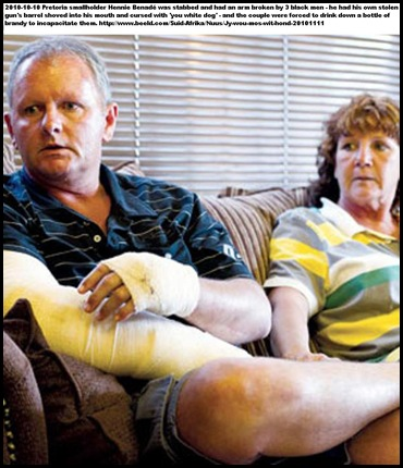Benade Hennie and Ann assaulted Honingnestkrans Pta YOU WHITE DOG Nov112010