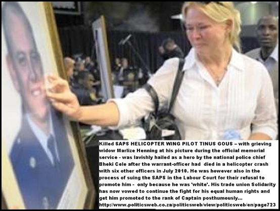 Gouws Tinus Jul302010 widow Marlize Henning after chopper crash