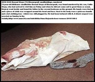 Steyn Barend 73 Bloemspruit smallholdings murdered Nov5 2010