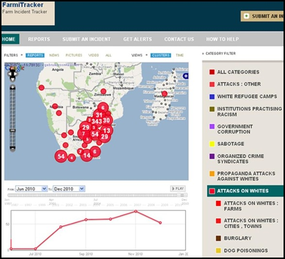 ATTACKS ON WHITES SOUTHERN AFRICA JUNE - DEC172010 FARMITRACKERCOM