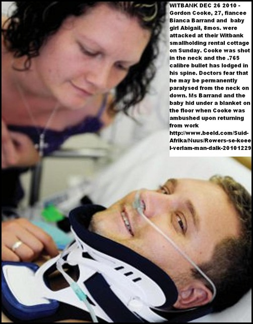 Cooke Gordon paralysed after attack Witbank Dec272010_fianceeBiancaBarrand