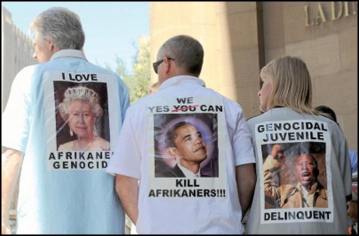 KILL THE BOER PROTEST T_SHIRTS JOBURG COURT NOV292010