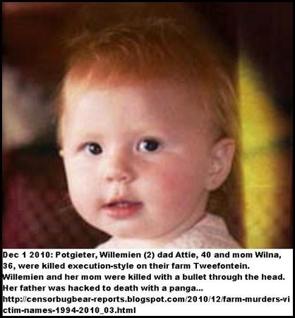 Potgieter Willemien 3 massacred on Lindley farm execution style Dec12010