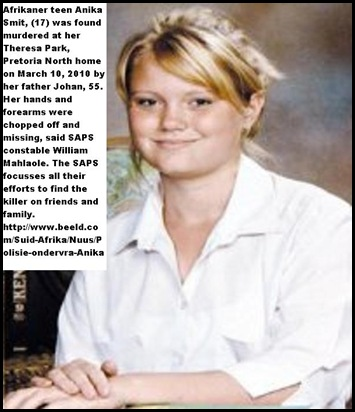 Smit Annika hands cut off missing_ murder _SAPS keeps suspecting friends and family