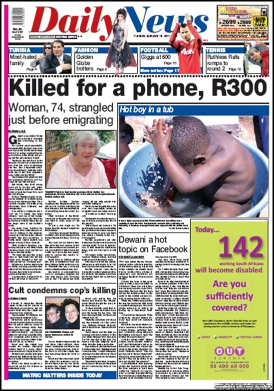 HODNETT EVELYN AND SMITH MAVIS KZN PENSIONERS MURDERED JAN2011