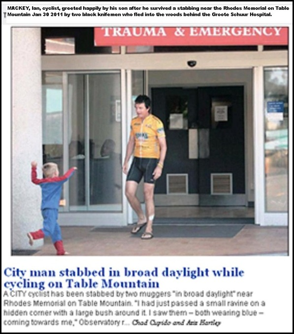 MACKEY Ian cyclist stabbed Rhodes Mem_TableMountain_Jan302011 PIC his son CapeTimes