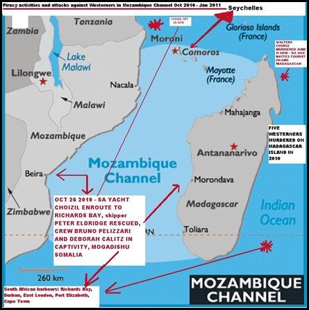 Mozambique Channel Map