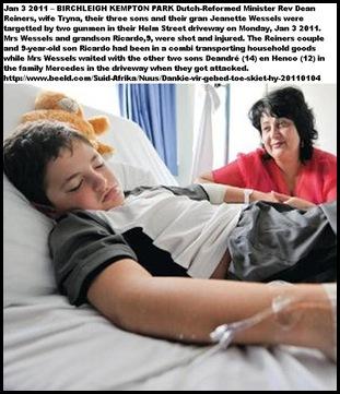 Reiners Ricardo 9 shot by gunmen Kempton Park son RevDean_Tryna NGChurch