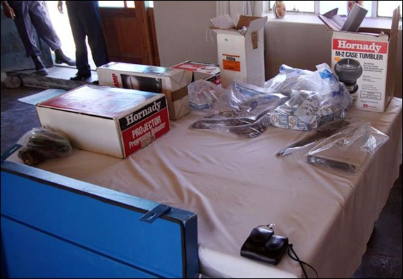 SUTHERLAND dead French couple's RELOADING EQUIPMENT Jan212011 SAPS