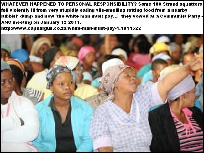 WHITE MAN FAULT THAT THEY ATE OLD FOOD FROM GARBAGE DUMP LWANDLE RESIDENTS JAN132011