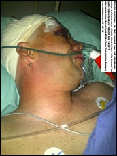 Armstrong Malcolm white courier attacked by black racist mob of truckers Johannesburg Feb152011