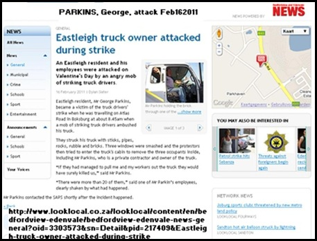 Parkins George EASTLEIGH trucker attack CAXTON NEWS