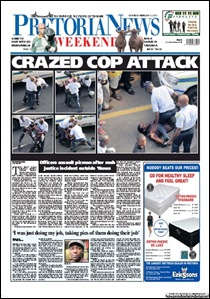SAPS attack Pretoria News photographer try invading newspaper building Feb42011