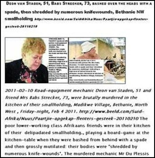 Staden vanDeon_Streclker_Babs MURDERED MUTILATED NW Bethanie smallholding Feb42011