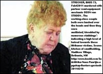 Strecker Babs murdered with partner Deon van Staden Bethanie NW smallholding Feb42011