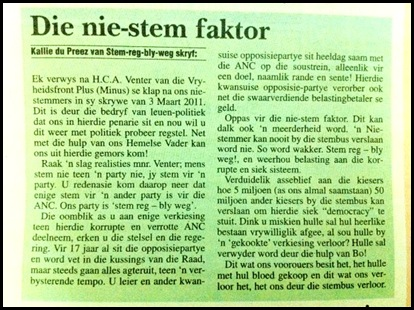 ANTI VOTING BOYCOT Kallie du Preez Parys Gazette Mar102011