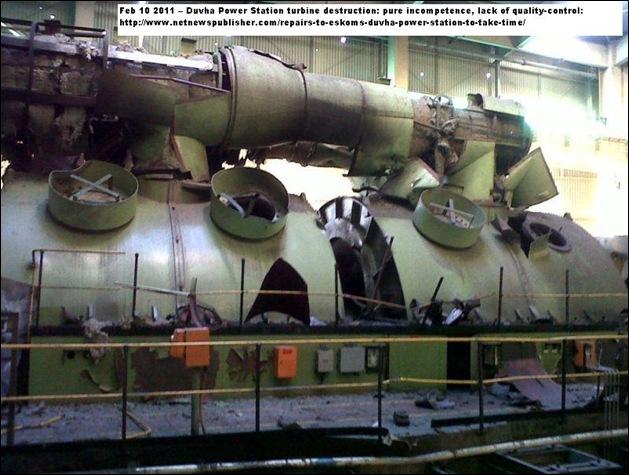 DUVHA coalpowerstation SA UNREPORTED ACCIDENT TURBINE1