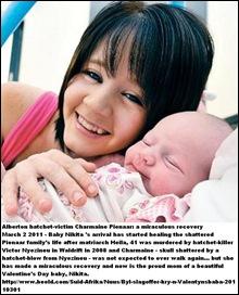 Pienaar Charmaine21_ baby_ Nikita ALBERTON hatcheting_victim miraculous recovery