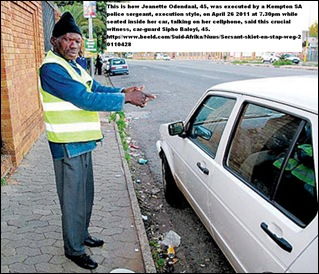 ODENDAAL Jeanette witness Baloyi shows HOW SHE WAS EXECUTED BY COP Kempton Park