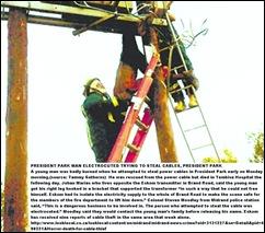 ROSETTENVILLE MAN ELECTROCUTED STEALING CABLING,jpg