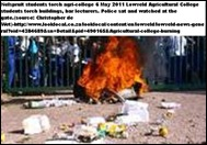 Agricultural college burning Lowveld torched by students May62011 NELSPRUIT