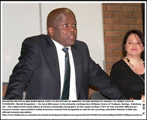 Boksburg mayor slams Media May52011 meeting 12 Caxton editors Kathy Grosvenor right