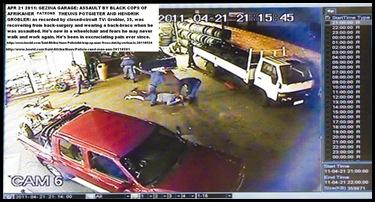 GROBLER HENDRIK AND THEUNS POTGIETER ASSAULTED 3 COPS GEZINA 21APRIL2011 CCTV