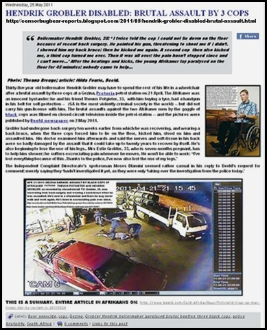 GROBLER HENDRIK DISABLED PAGEVIEW APR212011 GEZINA COPS BEATING
