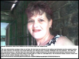 Koekemoer Annelie she and family fought off four farm attackers Cullinan April102010 shouted Viva Malema.jepg