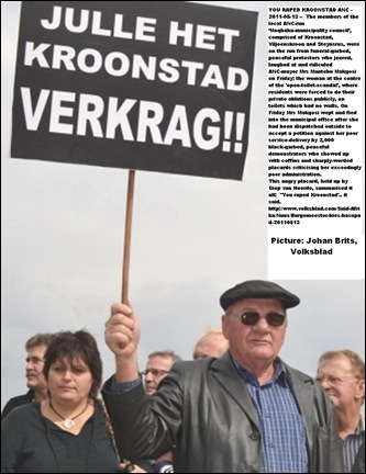 KROONSTAD MAYOR CHASED OFF MAY132011 ANGRY PROTESTORS