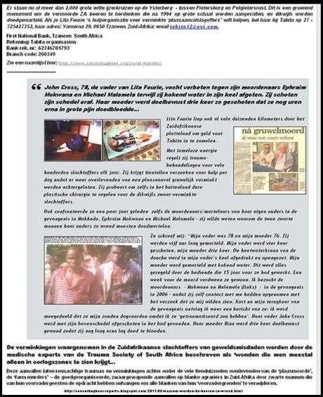 YSTERBERG KRUISE TABITA ORGANISASIE INLIGTING NEDERLANDS