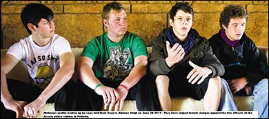 Acacia 4 Afrikaans youngsters shot at_beaten_kicked_by SA COPS June2011