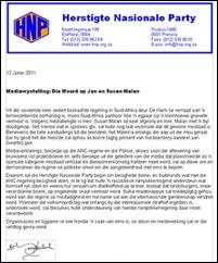 ANTI ANC BUSINESS BOYCOT HNP JUNE132011