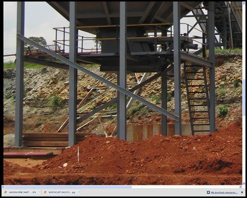 Aurora mineshaft before stripping of infrastructure