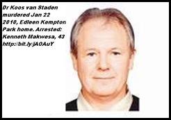 Van Staden Koos dr murdered Edleen KemptonParkJan222011