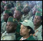 ANC YOUTH CORPS MILITARY TRAINING ONLY FOR TAKING CENSUS...