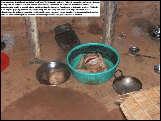 CANNIBALISTIC TRADITIONAL MEDICINE MADE FROM HUMAN BODY PARTS SAPS PICTURE