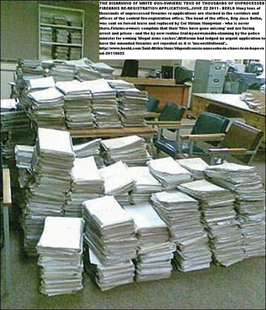 FIREARM_REREGISTRATION APPLICATIONS STACKS WAITING JUNE222011BEELD_pretoria office