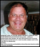 Grobler Naas 56 murdered rural Denysville Vaaldam security complex Sept82010