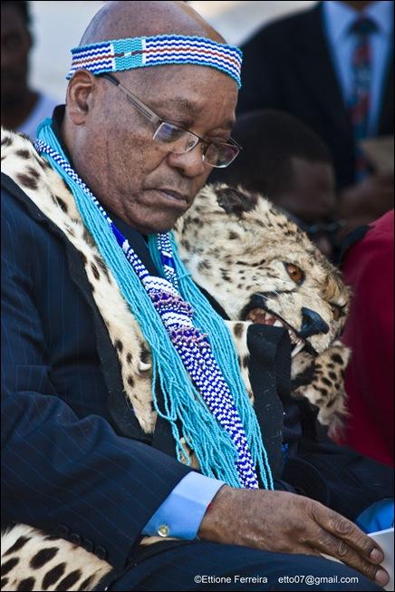 Zuma XhosaRegaliaGrahamstownFreedomOfCityJuly132011