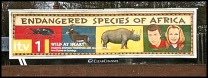 ENDANGERED SPECIES OF AFRICA BILLBOARD