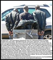 Kempton Park attackers of white bakery owner arrested by metrocops Aug252011